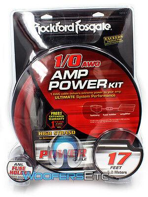 Rfk1 Rockford Fosgate 0 Gauge Amp Ga Subwoofer Amplifier Wire Installation Kit on Sale