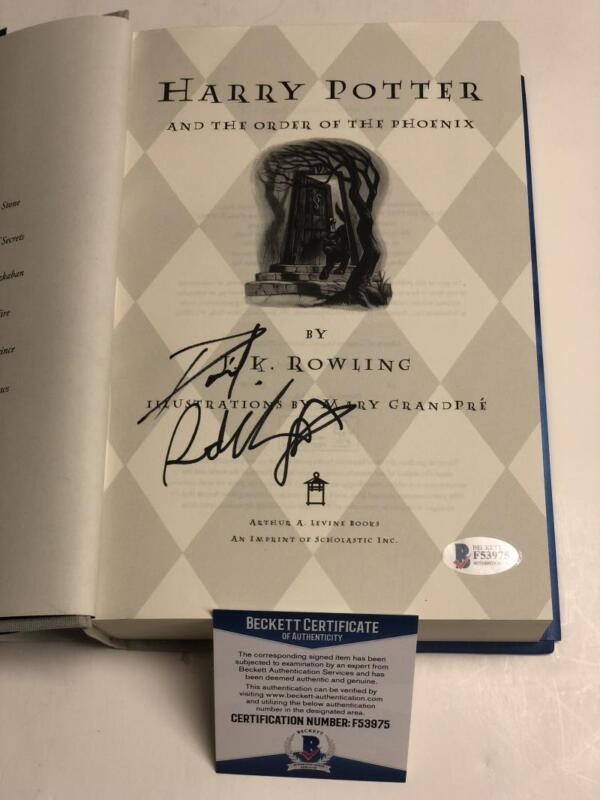 DANIEL RADCLIFFE SIGNED HARRY POTTER AND THE ORDER OF PHOENIX BECKETT PROOF COA