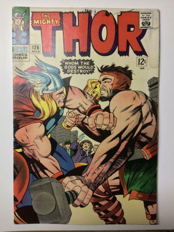 The Mighty Thor #126/Silver Age Marvel Comic Book/1st Thor Title/VG-FN