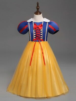 Snow White Winter Costume ( Girls Snow White Princess Costume Long Halloween Party Dress Cosplay Gown MG)