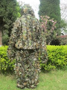 Military Hunting Tactical Camo 3D Leaf Camouflage Ghillie Bionic Training Suit