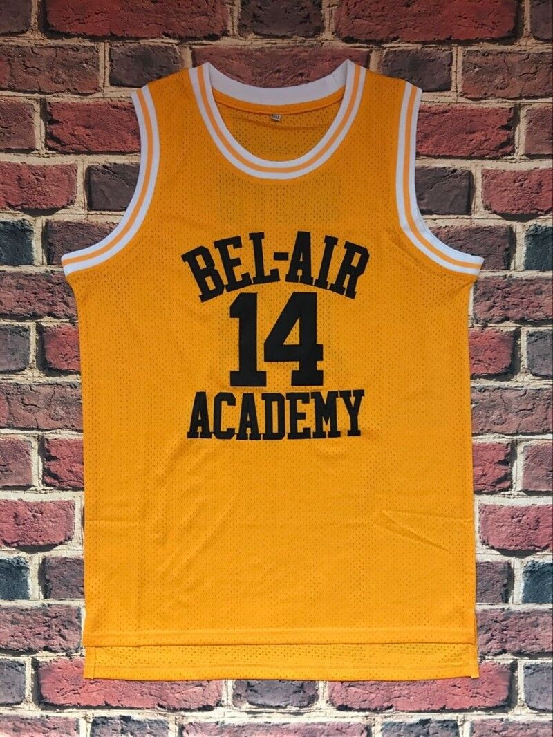 aea1efbea816 Details about The Fresh Prince Of Bel Air Academy Jersey  14 Will Smith  Yellow Mens