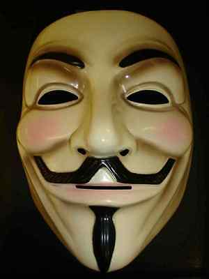 Offiziell V For Vendetta Maske Guy Fawkes Anonymous Halloween Kostüm ()