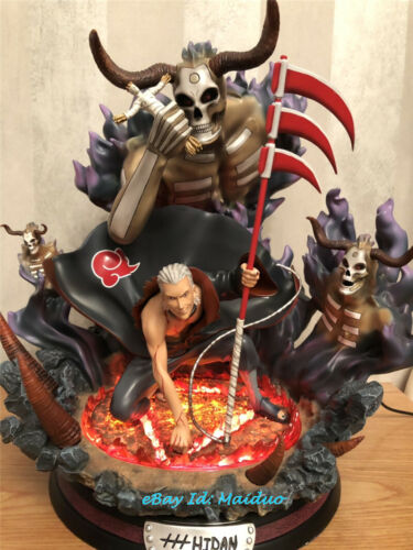 Naruto Hidan Statue Figurine Collections Resin Model GK Painted LED Lights New