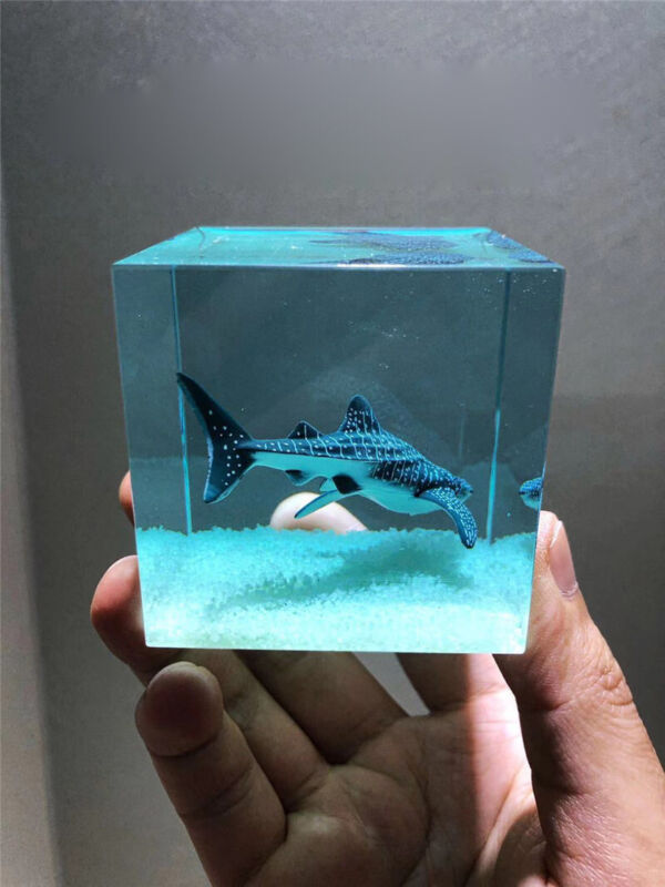 Handmade Marine Animal Whale Shark Crystal Resin Birthday Gift Night Luminous