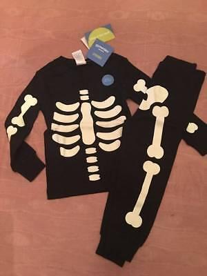 NWT Gymboree Halloween Glow in the Dark Black Skeleton Pajamas Baby Boy - Glow In The Dark Skeleton Pajamas Boys