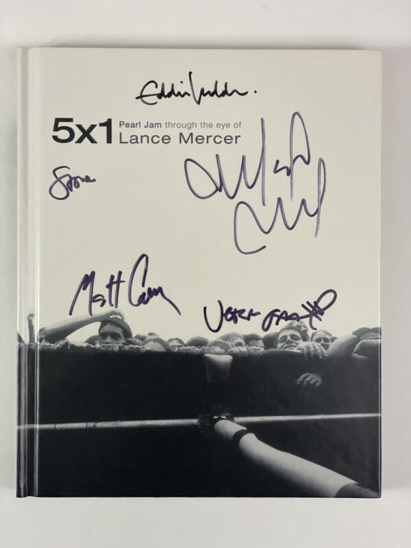 """PEARL JAM BAND (X5) SIGNED AUTOGRAPH """"5x1"""" PHOTO BOOK - EDDIE VEDDER ACOA & REAL"""