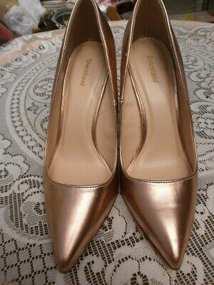 Damen Pumps-High Heels - Lackleder Gr. 4 - 37, bronze,Graceland - Bronze Pumps Heels