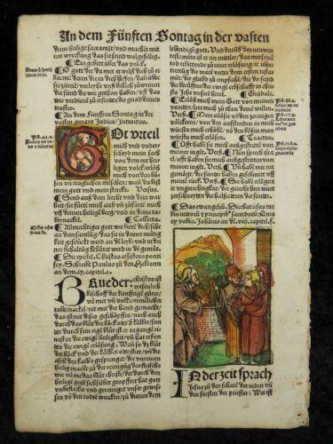 HANS SCHÄUFELEIN OLD MASTER WOODCUT PLENARIUM 1516 CHRIST PHARISEES J35