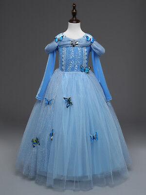 Cinderella Long Sleeve Princess Butterfly Party Dress kids Costume Dress Up - Butterfly Dress Up