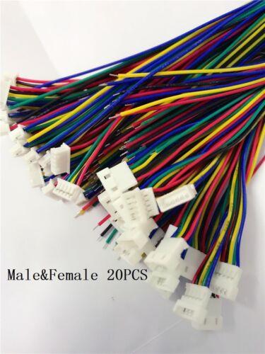 10 Paar Micro JST 1.25 5 Pin Stecker und Buchse Stecker mit Drähten ...