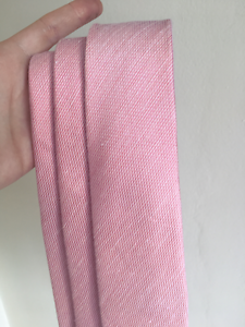 3 x Sabo Blush Pink Silk Blend Textured Ties The Hill Newcastle Area Preview