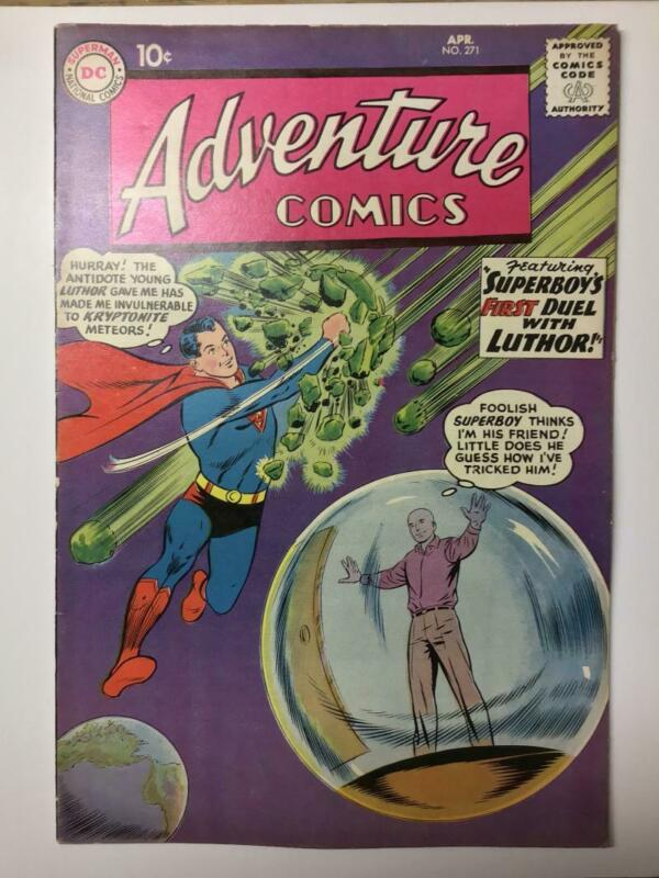 Adventure Comics #271/Silver Age DC Comic Book/Origin of Lex Luthor/FN-VF