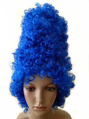 Halloween Cartoon Blue Marge Simpson Beehive Curly wig Fancy Dress Costume](Marge Simpson Halloween)