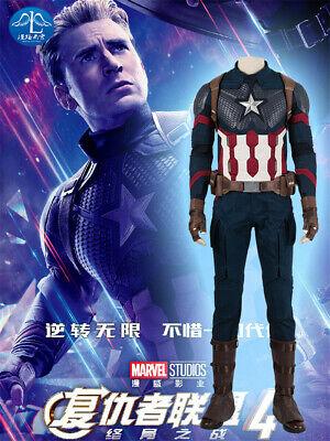 Captain America Bodysuit Costume (Avengers:Endgame4 Captain America Outfit Cosplay Costume Bodysuit Suit)
