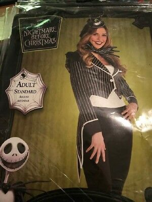 Jack Skellington Female Deluxe Adult Costume - Adult Standard up to sz - Male To Female Costume