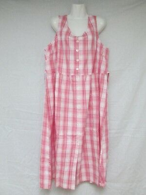 Vermont Country Store Plaid Jumper Dress Many Sizes Available Blue and (Plaid Jumper)