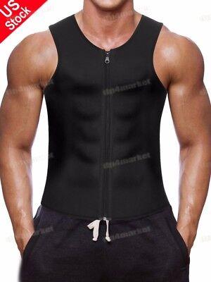 (US Men's Belts Top Sportwear Body Fat Burner Shaper Vest Slim Waist Trainer Belt)