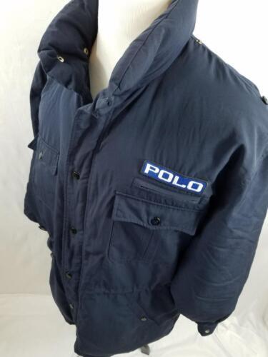 VTG  Polo Ralph Lauren Navy Ski Coat Down Jacket S