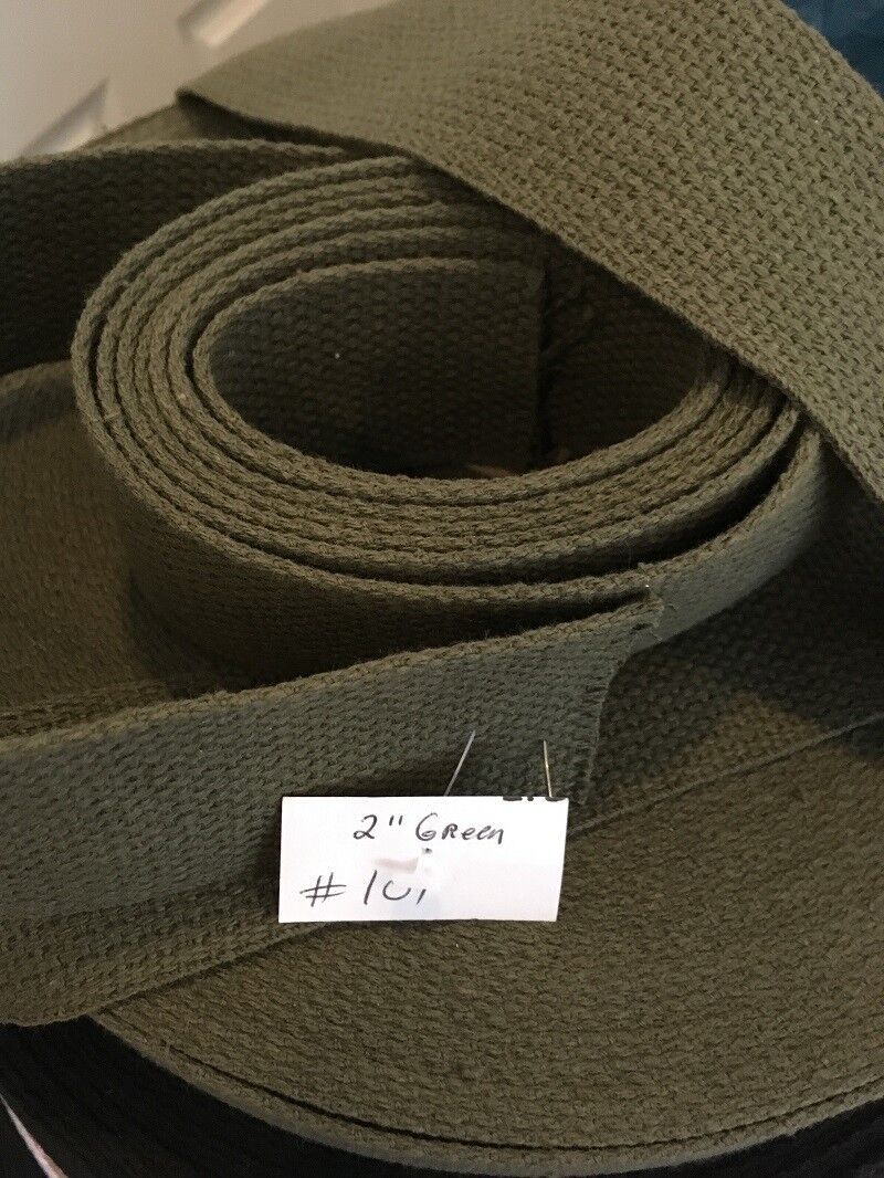 """2"""" Cotton US Military Webbing /Strapping Material Belts  GRE"""
