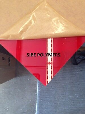 Translucent Red Acrylic Plexiglass 18 X 12 X 12 Plastic Sheet