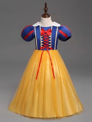 Gorgeous Snow White  Insppired Dress Girl Princess Costume Party Dress #k45 (Snow Girl Costume)