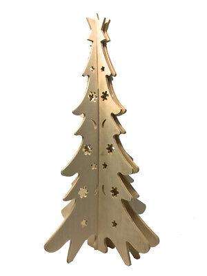 Albero di natale in legno tridimensionale per decoupage decorazioni natalizie