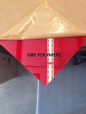 Translucent Red Acrylic Plexiglass 18 X 8 X 12 Plastic Sheet