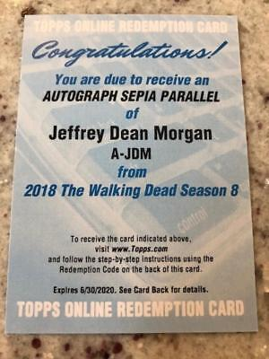 2018 Topps Walking Dead Season 8 Part 1 Auto Sepia Jeffrey Dean Morgan Negan Rdm