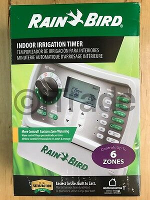 Rain Bird SST-600in Simple-To-Set 6-Zone Indoor Irrigation Timer NEW Free SH