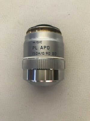 1pcs Used Leica Pl Apo 150x0.90 Bd Microscope Light And Dark Field Objective