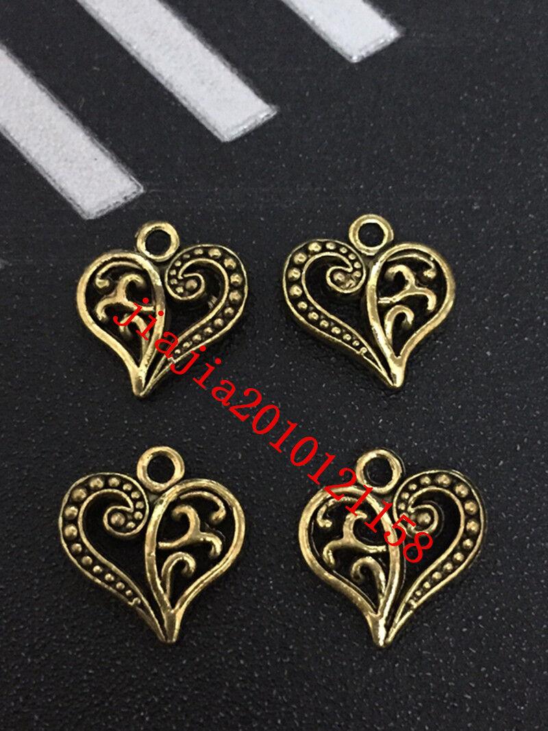 PJ352 20pc Tibetan Gold(Heart-shaped)Bead Charms Accessories wholesale