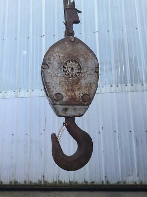 Mckissick 20 Ton Crane Block 16 Single Sheave Pulley 9289