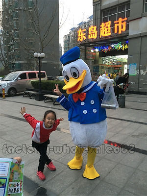 Donald Duck Mascot Costumes Cosplay Unisex Fancy Dress Adult Outfit Parade Party