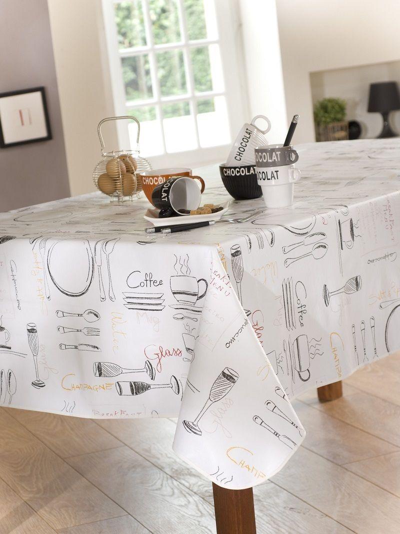 nappe en plastique 140x250 cm menu noir pas cher. Black Bedroom Furniture Sets. Home Design Ideas