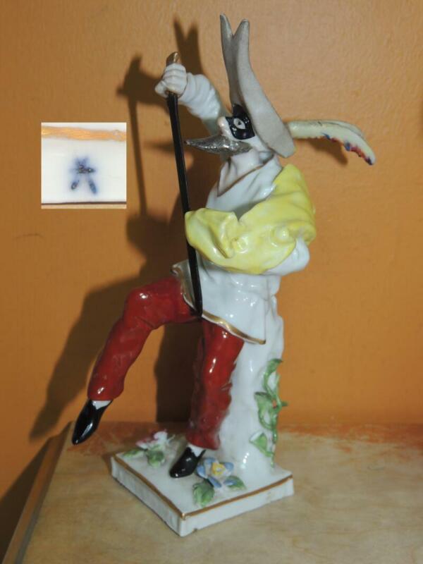 """Porcelain Figurine 7.5"""" Comeddia dell"""
