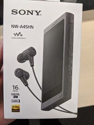 SONY HiRes Walkman NW-A45 with noise cancelling headphones IER-NW500N