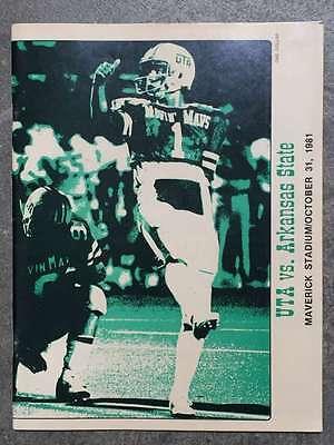 ARKANSAS STATE UNIVERSITY @ TEXAS A&I COLLEGE FOOTBALL PROGRAM 1981 EX ()