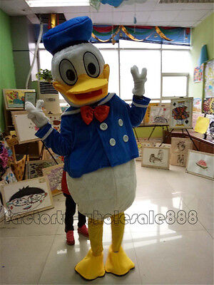 Donald Duck Mascot Costume Halloween Parade Suits Cosplay Fancy Dress Adult - Adult Donald Duck Costume