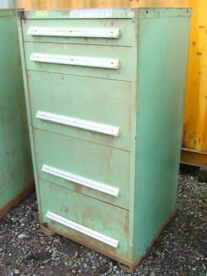 Stanley Vidmar Stationary Full Height Modular Drawer Cabinet 5-drawer