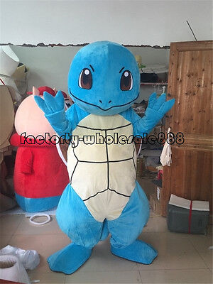 Squirtle Costume Halloween (Halloween Squirtle Turtle Pokemon Go Pikachu Mascot Costume Adult Fancy)