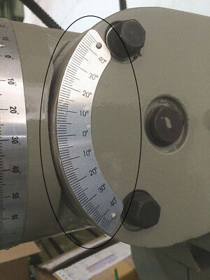 Milling Machine Part 45 Degree Angle Plate Micrometer Scale For Bridgeport Mill