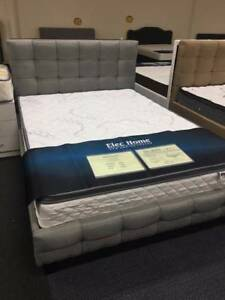 Brand New Grey/Beige Fabric Bed Frame 3 sizes (EH002F)