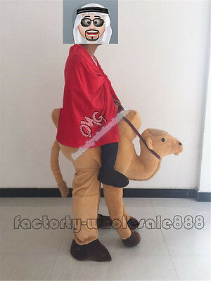Halloween Camel Mascot Costumes Ride On Fancy Dress Party Funny Costume Handmade