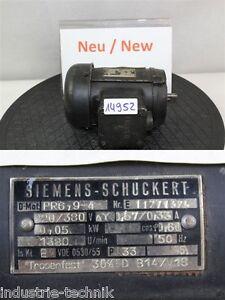 siemens SCHUCKERT 0,05 kw  1400 min  elektromotor drehstrommotor PR6,9-4