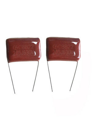 10pcs Metal Film Capacitors Cbb22 205j 630v 2uf -uks