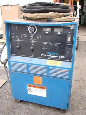 Miller Acdc Cc Tig Welder 1ph 200230460v Syncrowave 500 Water Cooled Torc