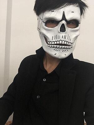 FRP Skull Skeleton Full Face Mask Cosplay Props For James Bond 007:Spectre 2019 - Celebrities For Halloween