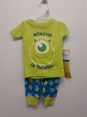 Disney Baby Pajamas (DISNEY BABY MONSTER IN TRAINING 2PC PJ SET, GREEN *CHECK FOR)