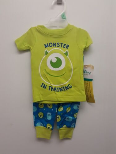 DISNEY BABY MONSTER IN TRAINING 2PC PJ SET, GREEN *CHECK FOR SIZE